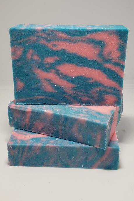 Cotton Candy Bar Soap set of 3